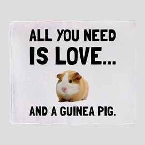 Love And A Guinea Pig Throw Blanket